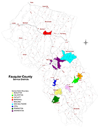 Map of Fauquier County